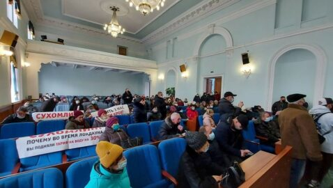 Протестующие против тарифов взяли штурмом Житомирский облсовет