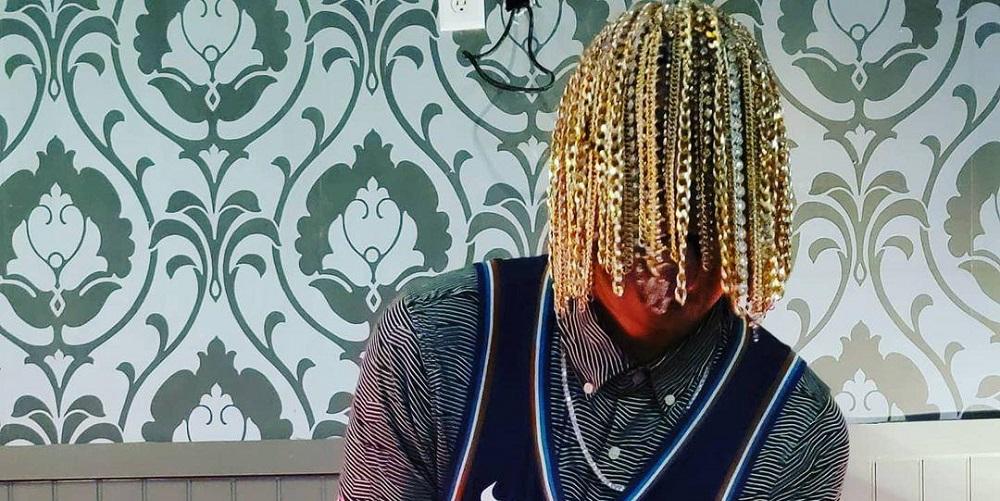 Рэпер вживил в череп золотые цепи вместо волос (фото) — 3 — изображение
