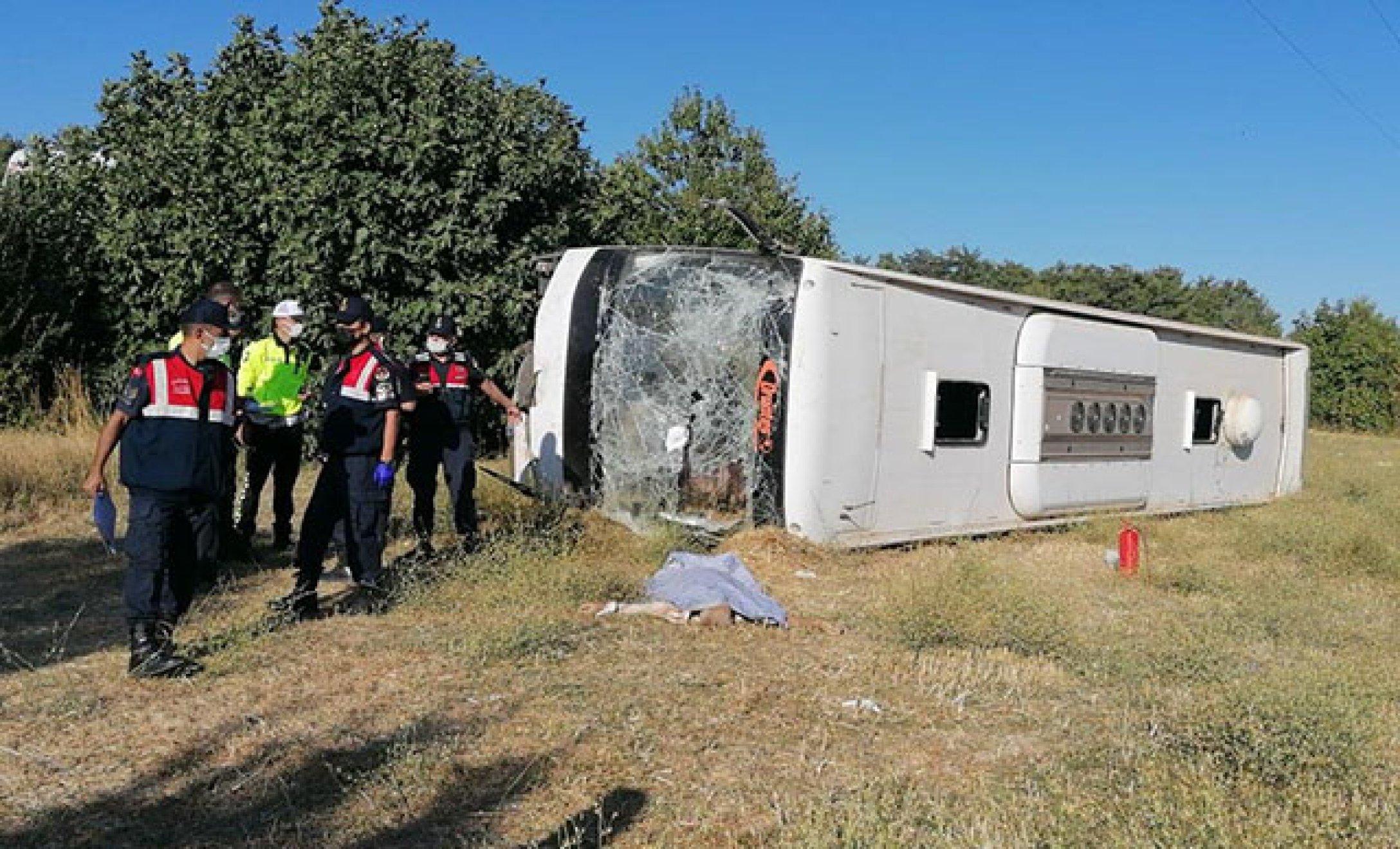 В Турции перевернулся автобус с украинскими туристами: есть погибший (фото, видео)