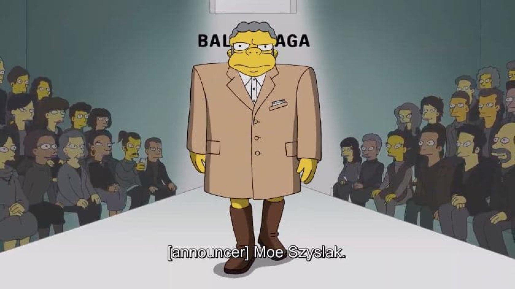 Неделя моды в Париже: персонажи «Симпсонов» представили новую коллекцию Balenciaga (фото, видео)