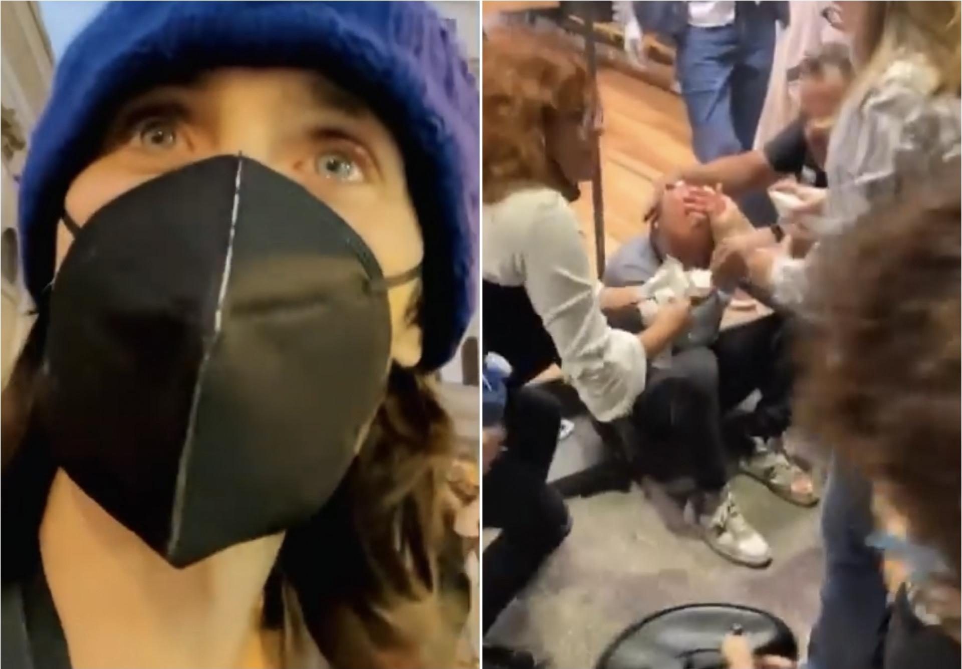 «Досталось»: Джаред Лето пострадал от рук полиции во время протестов в Италии (видео)