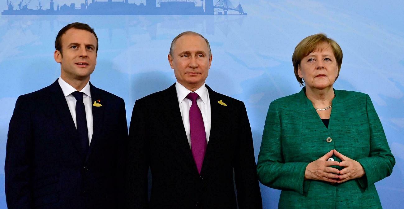 Макрон и Меркель после переговоров с Зеленским пообщались с Путиным