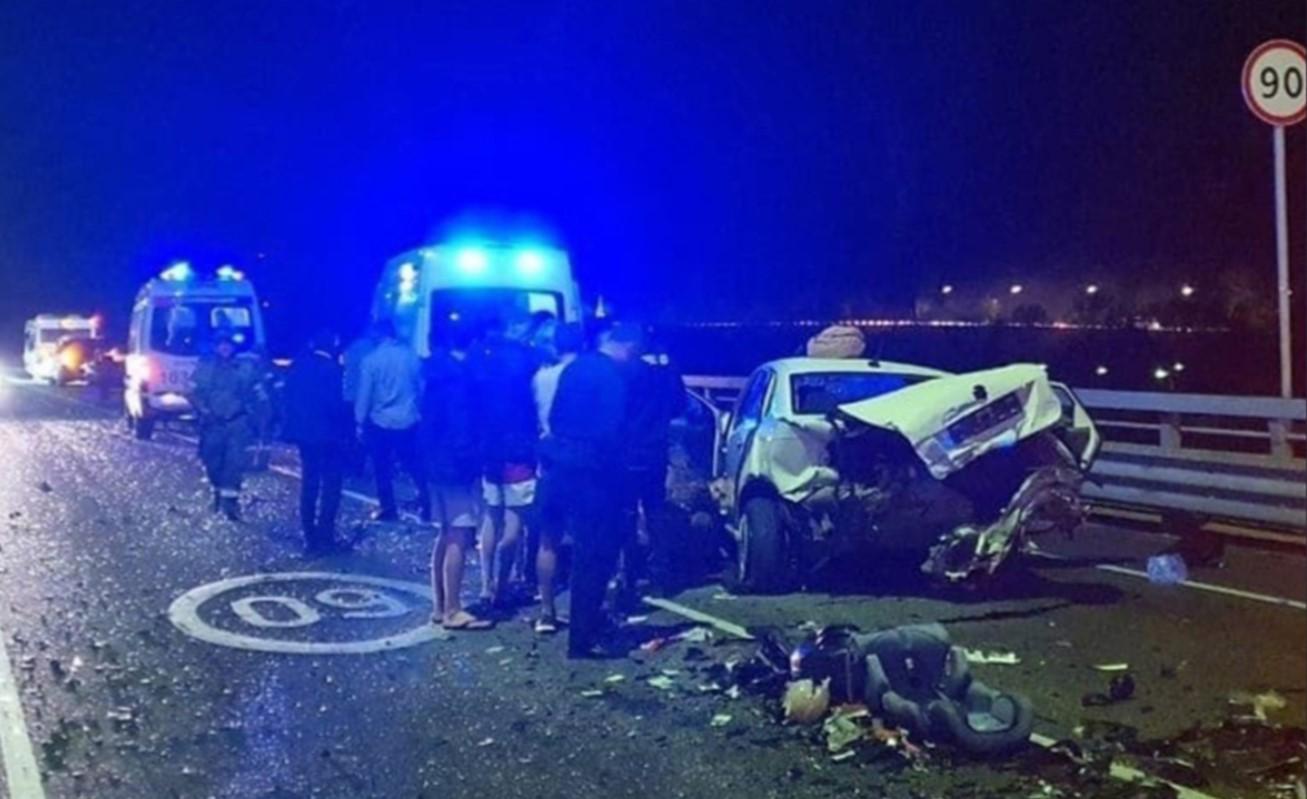 Появилось видео момента аварии с участием Ксении Собчак